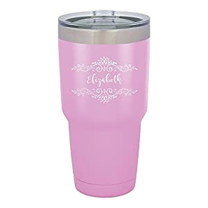 Froolu Thermal Water Bottle - Purple Personalized Laser Engraved Tumbler - Hydro Travel Cup Flask