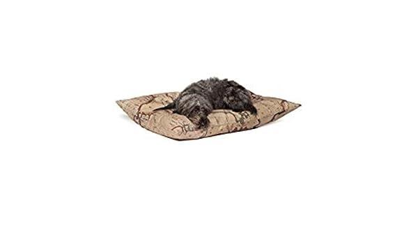 Danish Design Vintage Mapas Perro Cachorro de Profundidad Relleno edredón Cama - Grande - 87 x 138 cm: Amazon.es: Hogar