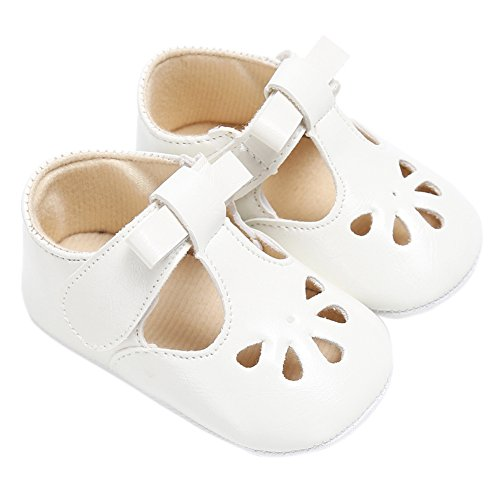 Fire Frog Baby Girls Christening Baptism Shoes Infant Toddlers Mary Jane Princess Dress Flat Prewalker - Fire Frog