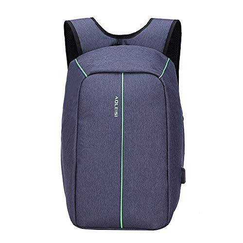 3life Men and Women 15.6-inch Anti-Theft Laptop Bag New Casual Multi-Function Large-Capacity Backpack External USB Interface Charging Convenient Charging a Variety of ()
