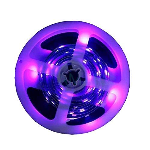 UV Black Lights LED Strip, DC12V 5050 SMD 2M/6.6FT 395nm-405nm Flexible Ultraviolet Black Lights Strip Fixture -