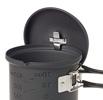 Esbit CS585HA 3-Piece Lightweight Camping Cook Set for Use with Solid Fuel Tablets