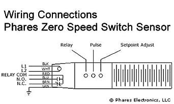 phares electronics zero speed switch sensor, zs09p1-120, relay no/nc, 120  vac, 5 amp switching capacity: amazon ca: tools & home improvement