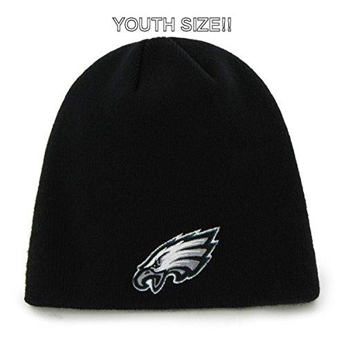 acc2403d Amazon.com : YOUTH Philadelphia Eagles Black Skull Cap - NFL ...