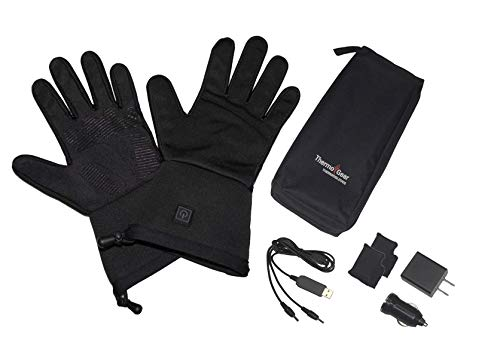 THERMO GEAR Heated Winter Gloves, Electric Ski, Snowboard, and Work Liners for Men & Women