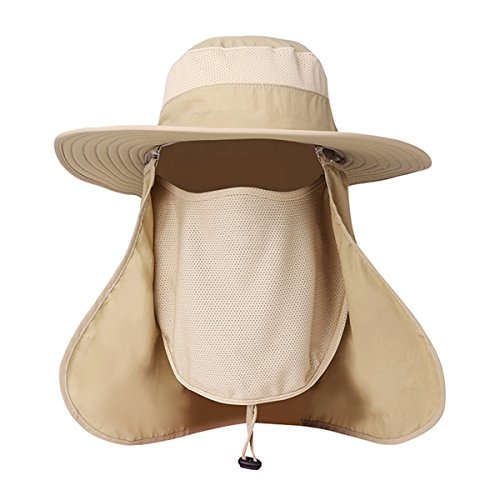 743f156d EINSKEY Fishing Sun Hat with Removable Neck Face Flap, Sun Protection  Waterproof Bucket Hat Breathable Mesh Boonie Hat for Men and Women - Buy  Online in ...