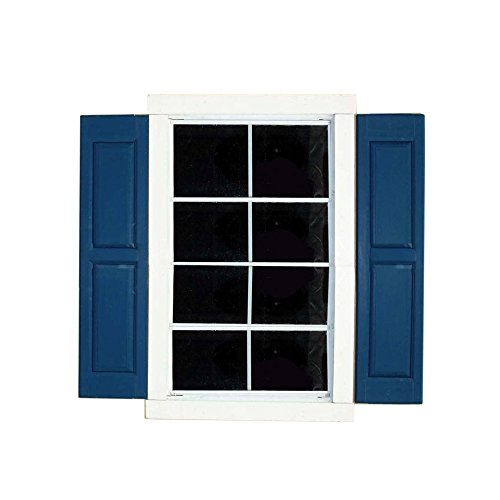 house window shutters red brick amazoncom handy home products window shutter pair 9