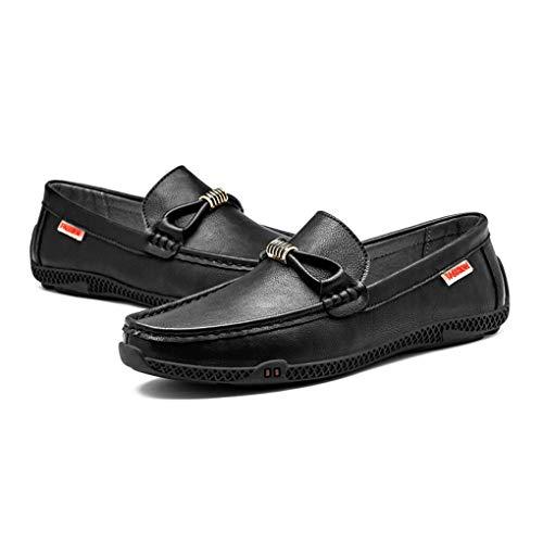 Slip para Negro los Comfort Mocasines Zapatos Zapatos Invierno de Otoño Perezosos conducción Moda Noche y Hombres Casual de y Caminar Zapatos Fiesta Ons Cuero gzpqUtPw