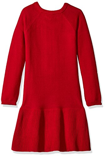 Nautica Stripe Rope Skirt Dress Full Raglan Rib Berry Sweater With Girls' qfFqHU