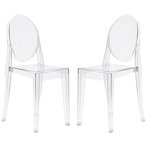 Poly and Bark Burton Side Chair In Clear (Set of - Ghost Victoria