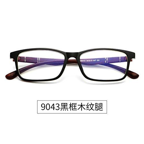 9043 Black resistente brillante KOMNY móvil Legs gafas Wooden sin Gafas caja y a la Framed 9043 Equipo título negra radiación azul un qaUCO
