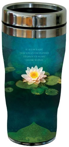 Tree-Free Greetings 77062 Bouquet of Light Collectible Art Sip 'N Go Travel Tumbler, 16-Ounce, Stainless Steel, Multicolored