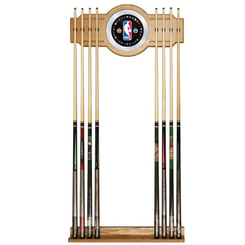 Trademark Gameroom NBA Billiard Cue Rack with Mirror by Trademark Gameroom
