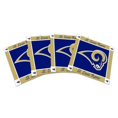 NFL Rams Ceramic Coasters (4) | St. Louis Rams Beverage Coasters - Set of -