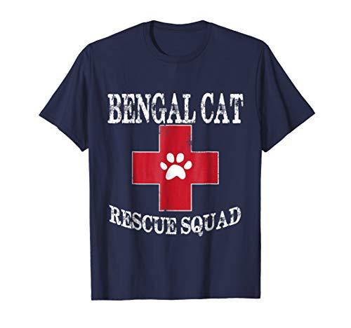 Bengal Cat Animal Rescue Shirt Bengal Cat Rescue Squad Tees