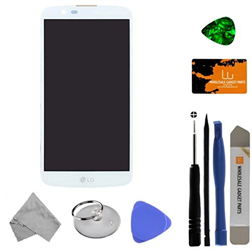 LCD, Digitizer & Frame Assembly for LG K10 (White) with Tool Kit by Wholesale Gadget Parts