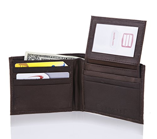 Suvelle Mens Slim Leather Bi-fold Wallet