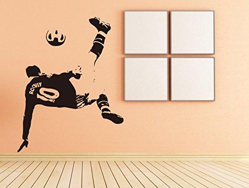 Aiwall F-023 Football Sticker Sports Soccer Decal Muurstickers Posters Vinyl Wall Decals Pegatina Quadro Parede Decor Mural Football Sticker No. 10 Jersey