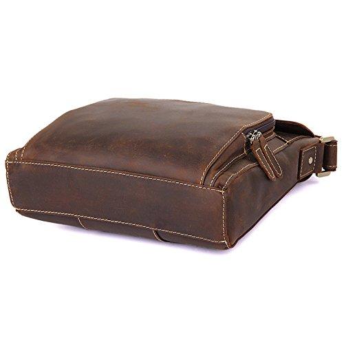 Brown Horseskin En Cuir Homme color Sacs Pour Size Bandoulière Brass Crazy Vintage L À HnBqOgw1