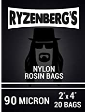 "Rosin Press Bags/Rosin Filters (90 Micron/90u) 2"" x 4"" Inch (20 Pack) by Ryzenberg's"