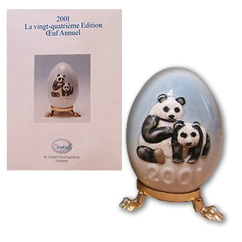 Goebel Easter Egg - Goebel ** 2001 Annual Easter Egg - Panda Bears ** 102745