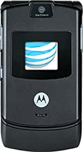 Motorola RAZR V3 Prepaid GoPhone, Black (AT&T) with $50 Airtime Credit