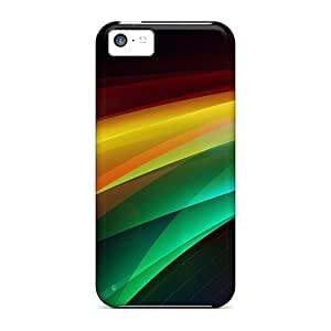 MDCH Iphone 5c Well-designed Hard Case Cover Colorful Background Protector