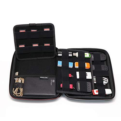 Power Bank Case/Hard Drive Case - Elvam Universal Handle Portable Flexible Waterproof Shockproof Electronic Accessories Organizer Case Holder/USB Flash Drive Case Bag/GPS Case Bag/Cable Case by Elvam (Image #2)