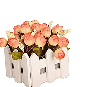 AKIMPE Artificial Fake Flower Faux Greenery DIY Decorations Forever Petals Long Stem Vine Preserved Gift for Wedding Party Home Birthday Garden Her Women 7 Heads 85