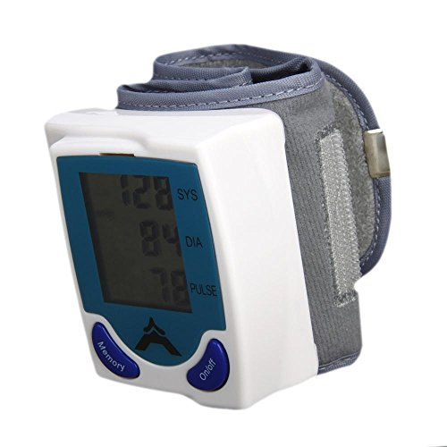 New 60 Memory Storage Wrist Cuff LCD Digital Blood Pressure Pulse Monitor Y-30 from Blood pressure