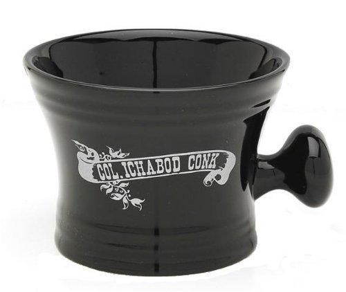 Conk Shaving Mug (Col Ichabod Conk Black Ceramic Apothecary Style Shaving Mug)