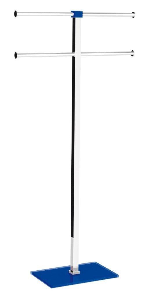 Lámpara de pie Porta Toallas 2 brazos correderas cromado - azul: Amazon.es: Bricolaje y herramientas
