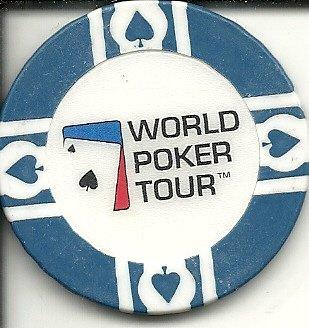 (world poker tour blue las vegas nevada casino chip)