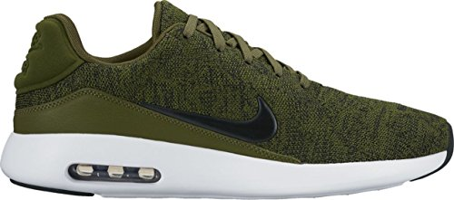 Nike Mens Air Max Modern Flyknit Fabric Low Top Lace Up, Green, Size 12.0 (Mens Nike Air Max Modern Flyknit Running Shoes)