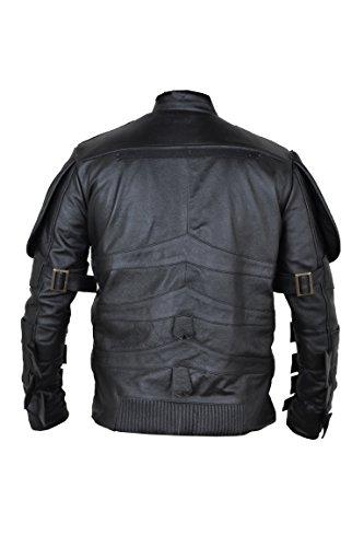 Dark Knight Batman Black Shield faux Leather Jacket