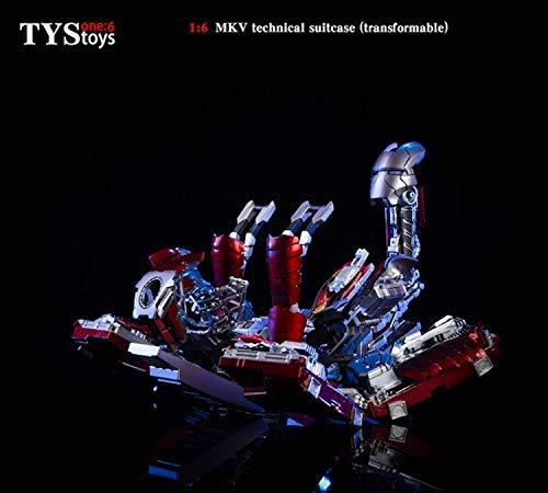 TYStoys 1/6 Ironman MK5 MKV フィギュア ドール 素体 用 箱 ボックス スーツケース フィギュア用 PHICEN/ファイセン/TBLeague対応 可動 ポーズ可調整 兵人 コスプレ 小型 小道具 おもちゃ アクセサリー B07GB7984T