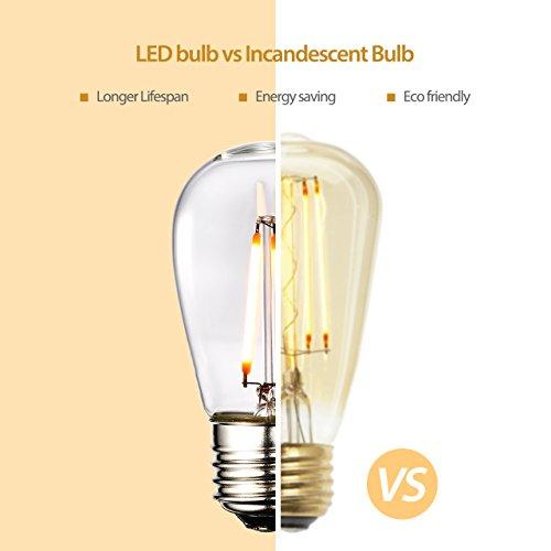 cymas outdoor string lights 49 ft weatherproof e26 led light import