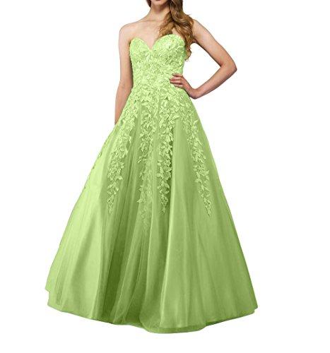 La Tuell Langes Partykleider Promkleider Abschlussballkleider Salbei mia Prinzess Spitze Brau Tanzenkleider Abendkleider qwrwU7