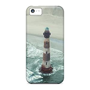 Iphone Cases - Cases Protective For Iphone 5c- Tall Lighthouse Off The Beach
