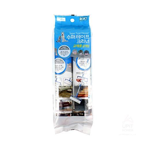 UPIT 50-inch Adjustable Long Handle Super Tape Cleaner Lint Roller (Refill Tape)