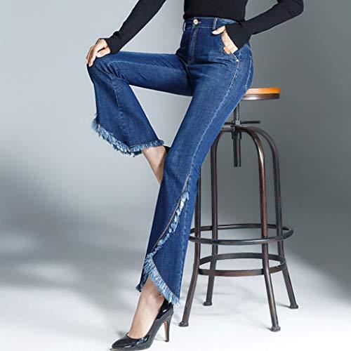 Fishtail Media Mujer Cintura color Estiramiento Puntos Pantalones Nueve Tamaño Micro 29 Azul Rxf Bellhorn Burr Cowboy Pants Azul 4FnWB8txqx