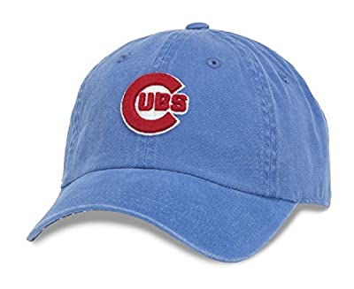 Chicago Cubs MLB American Needle New Raglin Cotton Twill Screen Printed Cap