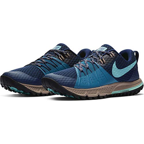 NIKE Women's Air Zoom Wildhorse 4 Running Shoe Blue Void/Aurora Green-Green Abyss 8.5 ()
