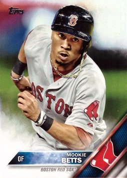 Amazoncom 2016 Topps 84 Mookie Betts Baseball Card Collectibles