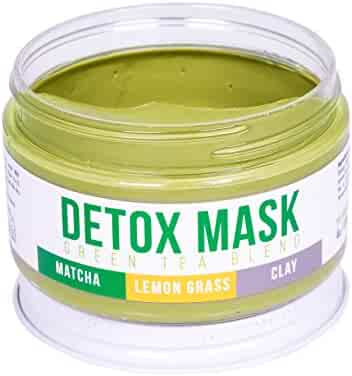 DETOX FACE MASK By Teami   Our 100% Best Green Tea Facial Care Mud Masks with Bentonite Clay for a Natural, Hydrating Cleanse of Dry Skin that Removes Blemishes   Antioxidant, Moisturizing, Anti-aging