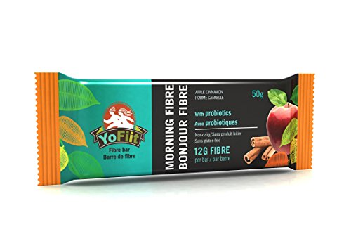Apple-Cinnamon High Fiber Breakfast Bars. Low Sugar, Gluten Free, Nut Free, Soy Free, Dairy Free (Vegan), Non-GMO. with Probiotics & Prebiotics for Healthy Digestion by YoFiit (1)