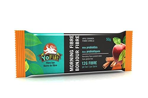 Gluten Free Soy Free (Apple-Cinnamon High Fiber Breakfast Bars. Low Sugar, Gluten Free, Nut Free, Soy Free, Dairy Free (Vegan), Non-GMO. With Probiotics & Prebiotics for Healthy Digestion by YoFiit (12 Pack))