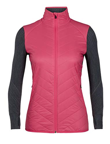pink Heather Jet Black Jacket Women jacket 2018 winter black Icebreaker Prism Descender qtHxzv