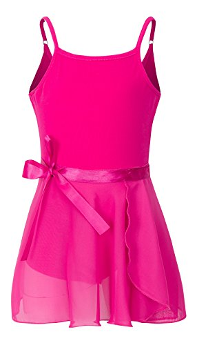 3043 Rose (YEEIC Girls' Dress Leotard With Adjustable Straps (8-10, Rose))