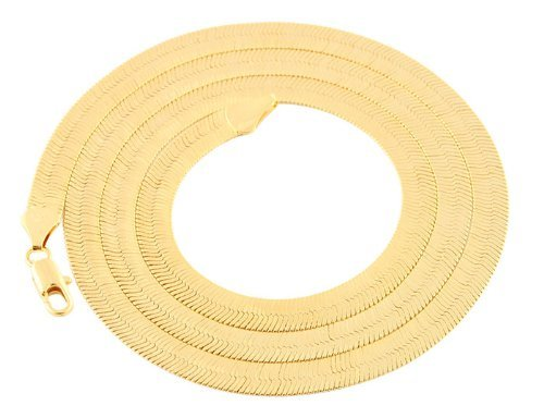 JOTW 2 Pieces of Goldtone 6mm 24 Inch Herringbone Chain Necklace (P-122)